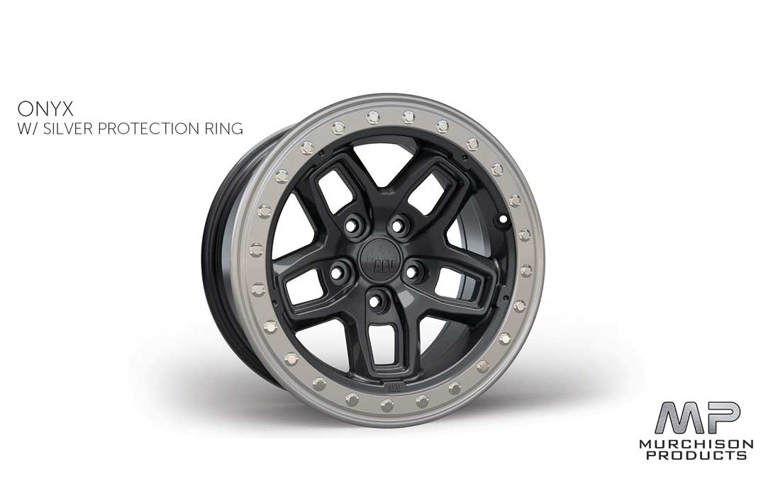AEV JL Wrangler Bora Wheel Onyx w/ Silver Protection Ring