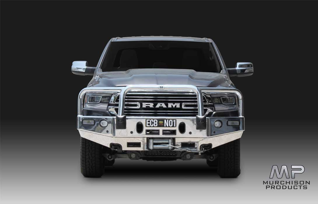 ECB Ram 1500 DT Winch Bar - Polished