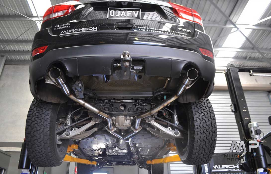 "Murchison WK2 Grand Cherokee Big 3 Power Pack WK2 3"" Hi-Flow Stainless Twin Exhaust"