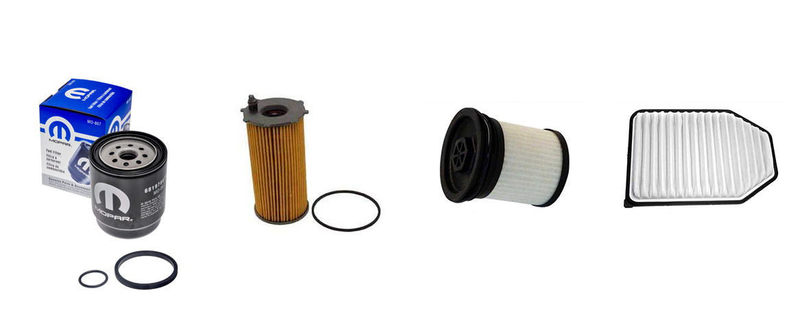 Genuine Mopar filters used on all Jeep vehicles