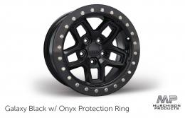 AEV JL Wrangler Borah Wheel Galaxy Black with Onyx Protection Ring