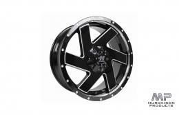 Hussla Chopper Wheel - Gloss Black / Machined 18x9