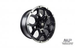 Hussla Trench Wheel - Black, Silver Lip 18x9
