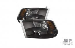 ASV Ram 1500 Black Pack Headlights, w/ bulb upgrade