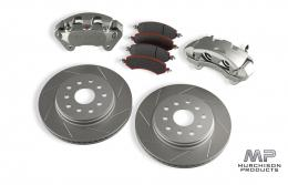 TeraFlex JK Wrangler Front Big Brake Kit with Slotted Rotors