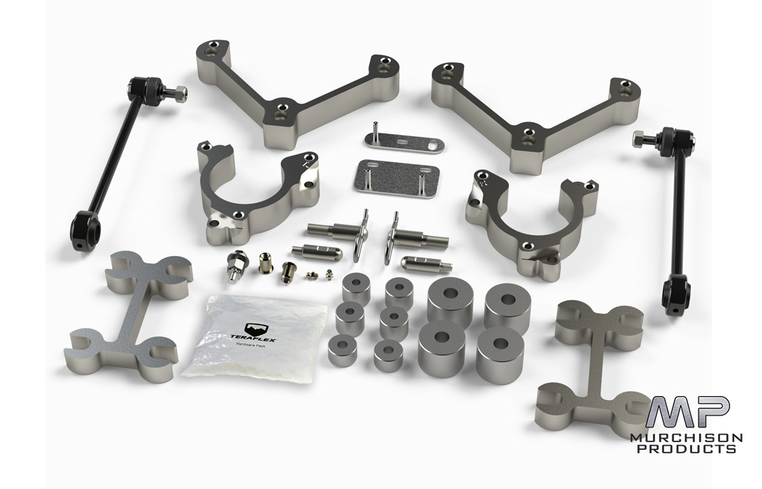 "Teraflex 1351200 Jeep Renegade 1.5"" Spacer Lift Kit"