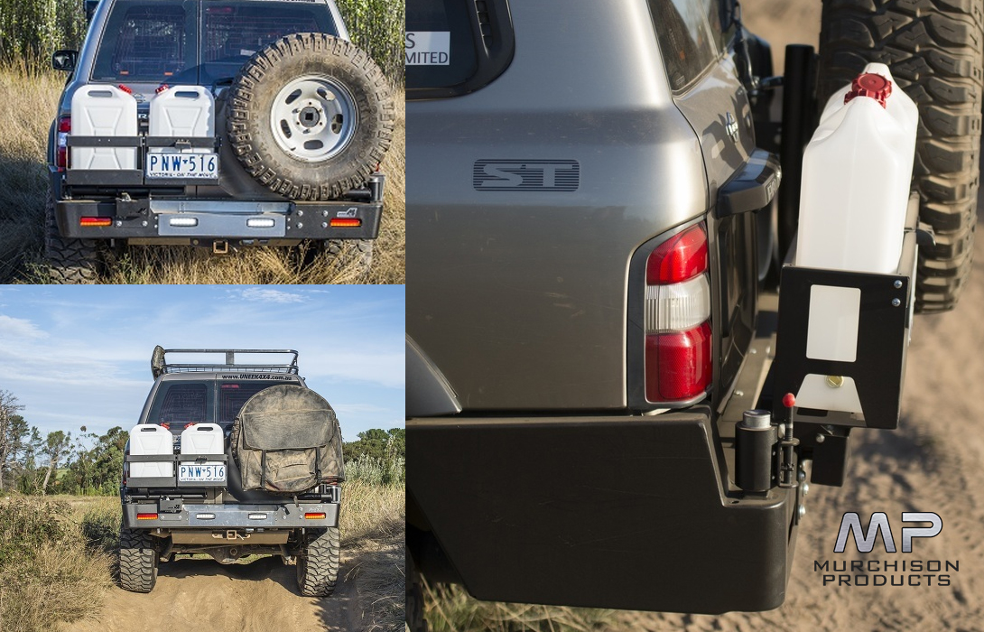 Uneek 4x4 Nissan Patrol GU Rear Bar and Tyre Carrier 1998 - 2015